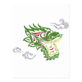 Japonias dragon postcard