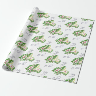 Japonias dragon wrapping paper