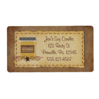 Jar Candle Business Label Shipping Label