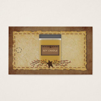 Jar Candle Hang Tag Business Card
