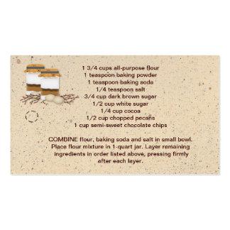 Jar Cookie Mix Hang Tag Business Cards
