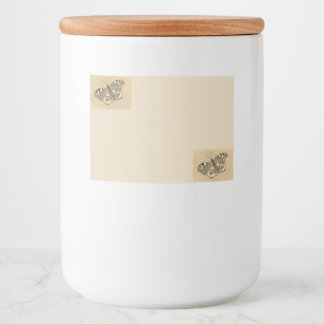 Jar Label with Peacock Butterfly Design 3