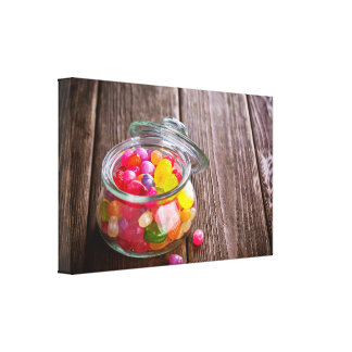 Jar of Hard Candy Country General Store Photograph Canvas Print