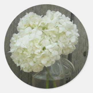 Jar Of Hydrangeas & Barnwood Sticker
