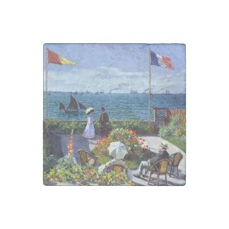 Jardin à Sainte-Adresse by Claude Monet Stone Magnet