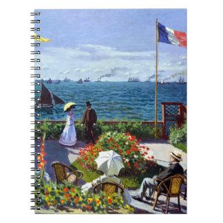 Jardin à Sainte-Adresse by Claude Monet Spiral Notebook