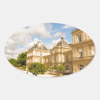 Jardin du Luxembourg in Paris Oval Sticker