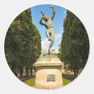 Jardin du Luxembourg in Paris Round Sticker