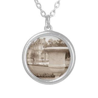Jardin du Luxembourg, vintage Paris Silver Plated Necklace