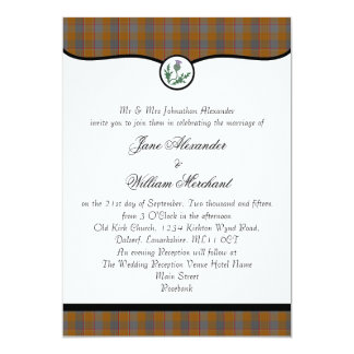 Jardine Clan Tartan Plaid & Thistle Wedding Invite