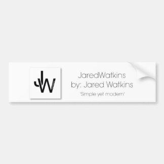 JaredWatkins logo bumper sticker