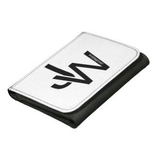 JaredWatkins men's small white logo wallet