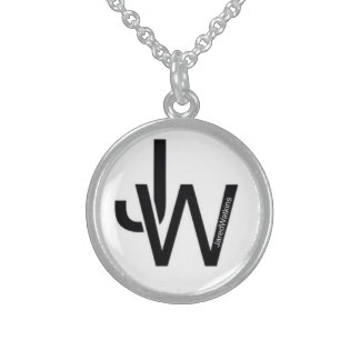 JaredWatkins sterling silver circle logo necklace