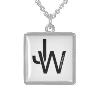 JaredWatkins sterling silver square logo necklace Jewelry