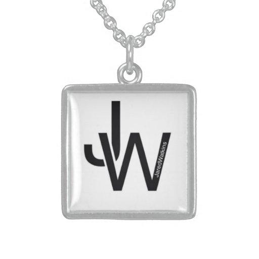 JaredWatkins sterling silver square logo necklace Jewelry