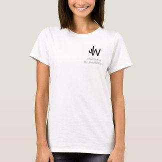 JaredWatkins women's basic white logo T-shirt