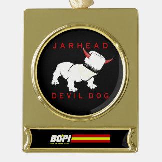 Jarhead/Devil Dog Gold-Plated Ornament