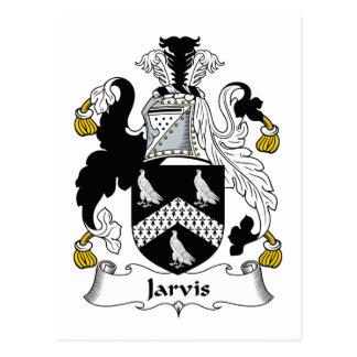 Jarvis Family Crest Postcard
