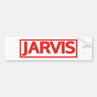 Jarvis Stamp Car Bumper Sticker