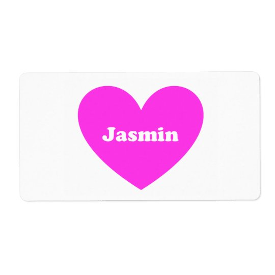 Jasmin Shipping Label