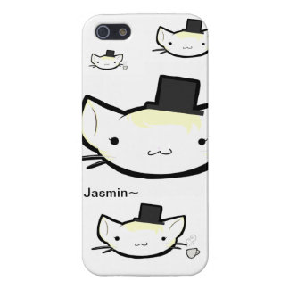 Jasmin~Top hat tea time iPhone 5 Covers