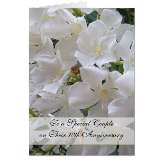 Jasmine 70th Wedding Anniversary Greeting Card