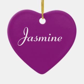 Jasmine Ceramic Heart Decoration