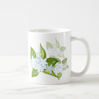 Jasmine flowers basic white mug