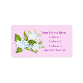 Jasmine Flowers Customizable Address Labels