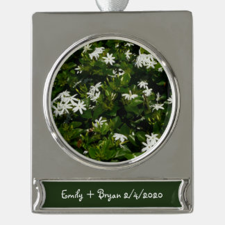 Jasmine Flowers Silver Plated Banner Ornament