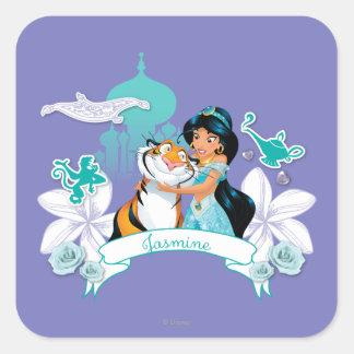 Jasmine - Gentle and Graceful Square Sticker