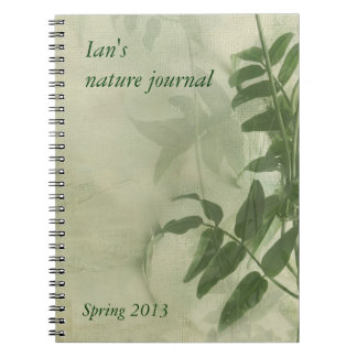 jasmine leaves nature journal notebook