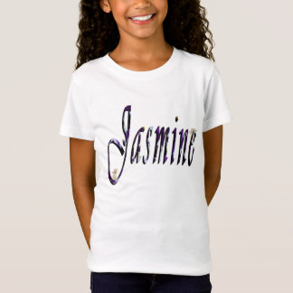 Jasmine, Name, Logo,  Girls White T-shirt