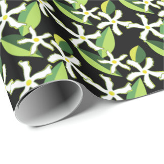 Jasmine Retro Floral Abstract Pattern Wrapping Paper