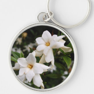 Jasmine Silver-Colored Round Key Ring