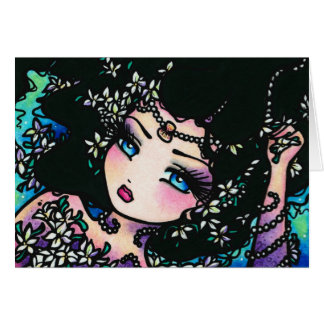 Jasmine Spring Flower Fantasy Mermaid Girl Card