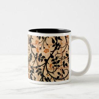 Jasmine trail curtain design, 1868-70 (printed cot Two-Tone coffee mug