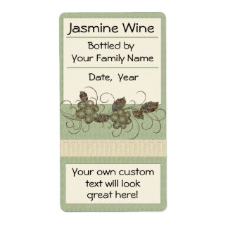 Jasmine Vine Wine Labels Bordeaux, Ice Wine