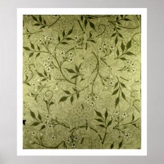 'Jasmine' wallpaper design, 1872 Poster