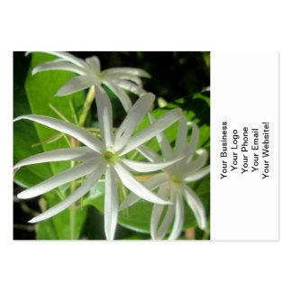 Jasmine White Green Flower Business Card Templates
