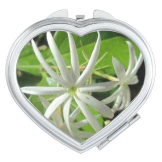 Jasmine White Green Flower Vanity Mirror