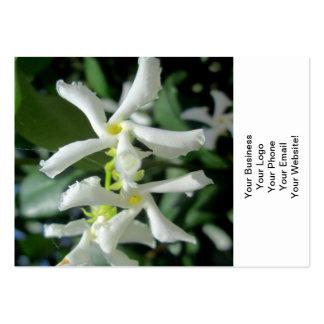 Jasmine White Tubes Flower Business Card Templates