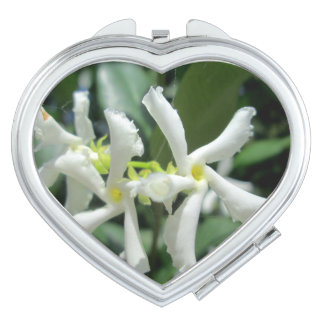 Jasmine White Tubes Flower Makeup Mirrors