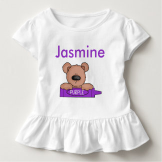 Jasmine's Personalized Teddy Toddler T-Shirt