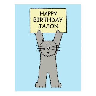 Jason Happy Birthday Postcard