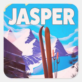Jasper Alberta Canada travel poster Square Sticker