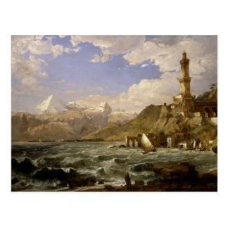 Jasper Francis Cropsey - The Coast of Genoa Postcard