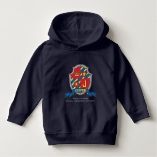 Jasper J letter name meaning crest knights shield Hoodie