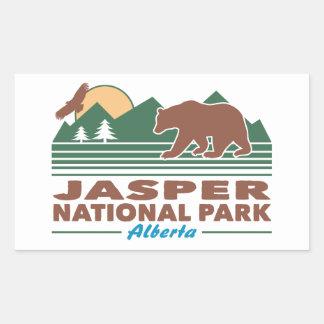 Jasper National Park Bear Rectangular Sticker