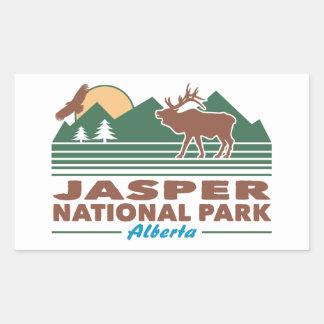 Jasper National Park Elk Rectangular Sticker
